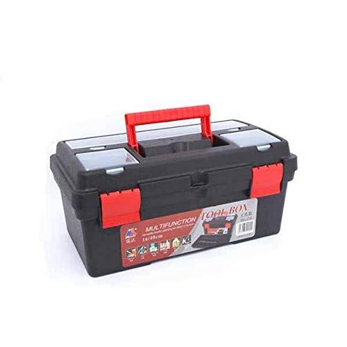 Caja de herramientas portátil de 16 pulgadas Caja de herramientas de pintura artística Caja de herramientas multifunción para herramientas y piezas pequeñas