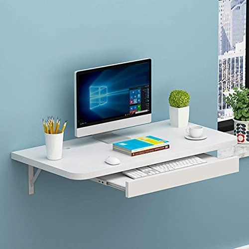 BAIYAN Escritorio de computadora de Gran tamaño, Mesa de Trabajo montada en Pared, con Escritorio...