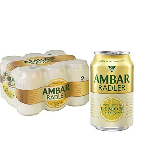 Ambar RADLER Bier 2.5% Alkohol. Dosen 330 ml. bier dose, biere der welt, bier set, geschenke für männer, ambar bier, adventskalender männer (24 Dosen, 0.33 l)
