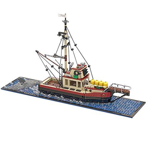 NFtop Technik Angeln Schiff Fischereifahrzeug Modell Bauset, Sciff Spielzeug Kompatibel mit Lego Schiff - 1235 Teile