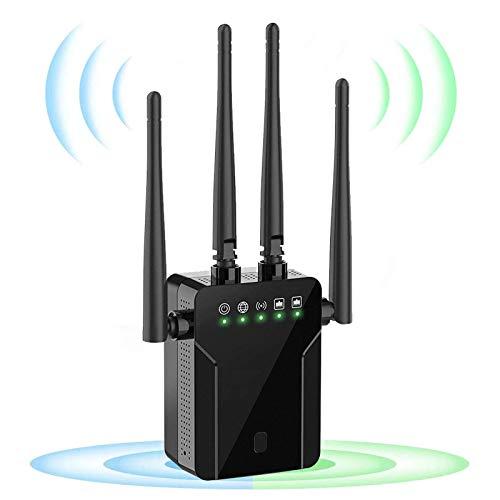 Chalpr Ripetitore WiFi Wireless, 1200 Mbps WiFi Extender, velocità Dual Band 2.4GHz 5GHz Amplificatore Segnale Wi-Fi, Supporta la modalità AP Ripetitore Router Cliente, Area di Copertura 250㎡