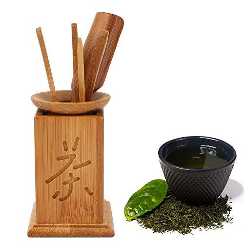 Wosune Juego de té de bambú, diseñado Simplemente decoración del Juego de té, salón de té no tóxico para el hogar