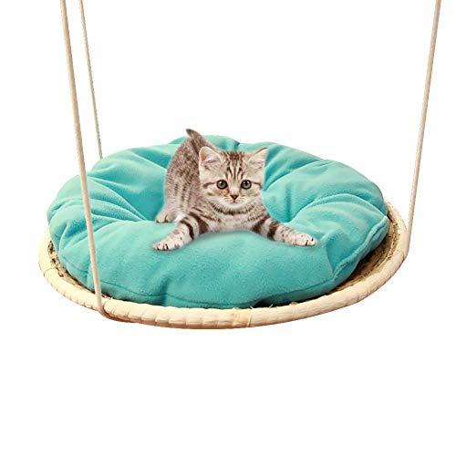 voloki Hamaca Cama para Mascotas Gato Hamaca TejedurÍA Grueso Columpio Almohadilla para Dormir Maquina Estante para Gatos Cama Colgante para Mascotas Good