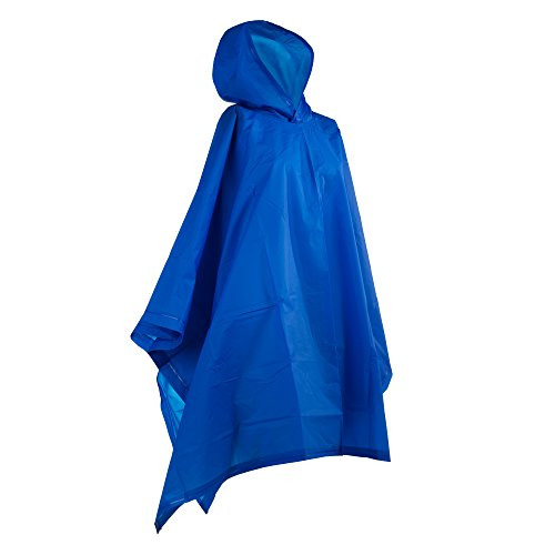 totes Hooded Rain Poncho, Royal, One Size