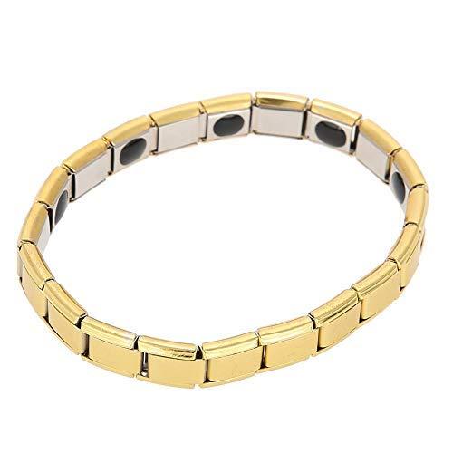 Betued Pulsera Terapia Magnetica, Brazalete de la joyería de la Pulsera de la Pulsera de Acero Titanium Unisex del Estilo Simple(1)