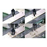 kengbi Fácil de Instalar y Utilizar bits de perforación i 4PACK HSS Contador Fregadero bits de Madera Contenedaje Power Power bit Set 5 Flautas Woodworking Chamfer Industrial Filerinks bit Reamerer