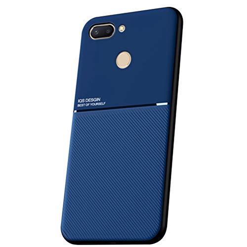 """Hicaseer Capa para Mi 8 Lite,TPU resistente a arranhões e capa de proteção contra choques e capa flexível anti-impressão digital durável e flexível para Xiaomi Mi 8 Lite 6.26"""" - Azul"""