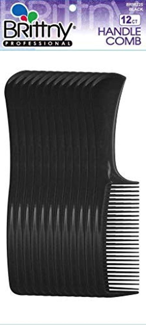 バーゲン自我便益Brittny Bulk Handle Combs - Black 12-Count (Pack of 6) [並行輸入品]