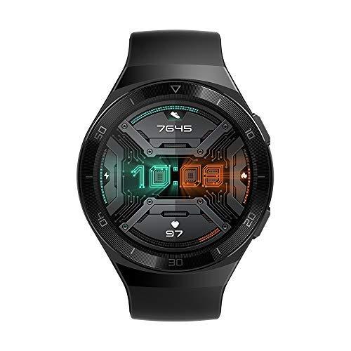 """HUAWEI WATCH GT 2e Smartwatch, tela sensível ao toque HD de 1.39 """"AMOLED, GPS e GLONASS, detecção automática de 6 esportes, rastreamento de 15 esportes diferentes, VO2Max, batimentos cardíacos em tempo real, preto (preto com grafite)"""