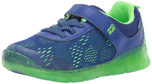 Stride Rite Unisex Boy's and Girl's Stride Rite Made2Play Lighted Neo Sneaker , Blue, 13.5 W US Little Kid