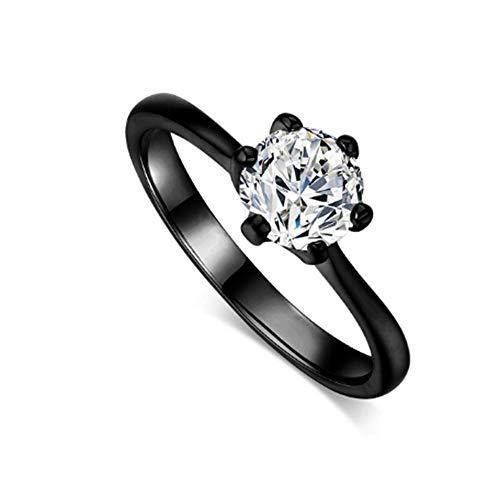 NAOZHONga damesringen 6 klauwen 1 karaat zirkonia trouwringen / verlovingsringen voor vrouwen wit/roségoud kleur damesring sieraad