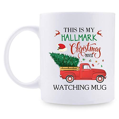 Hallmark Christmas Movie Mug - Christmas Gifts Coffee Mug, Merry Christmas Mug Presents, Funny Coffee Mug Gift for Women, Men, Mom, Dad, Friends, Coworkers - 11oz Xmas Gifts