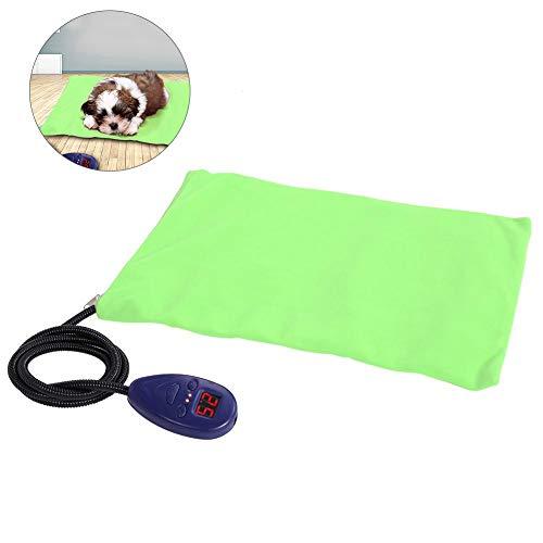 Riuty Almohadilla de Calentamiento para Mascotas, Almohadilla de Calentamiento para Perros a Prueba de Agua Calentador eléctrico a Prueba de Polvo(Green EU)