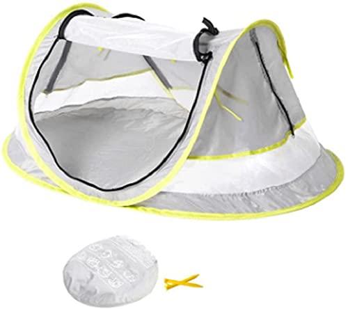FHKSFJ UPF 50+ Sun Shelters Baby Shade mit Moskitonetz Sonnenschirm Sonnenschirm für Baby Restzelt Baby Strandzelt Tragbares Pop Up Zelt(Color:White)