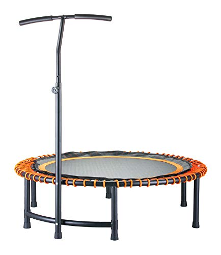 CASTOOL-45Ultra-Quiet-Fitness-Mini-Circular-Trampoline-with-Adjustable-HandleSafe-Elastic-Band--Indoor-FitnessHome-Workout-Cardio-Training-for-Adults-Red