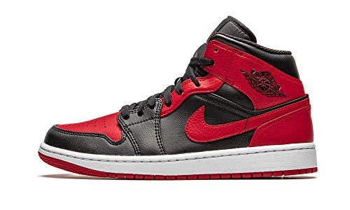 Nike Air Jordan 1 Mid Banned 554724 074 - Chaussures pour homme, Noir/rouge/blanc - Noir - Noir , 44 EU