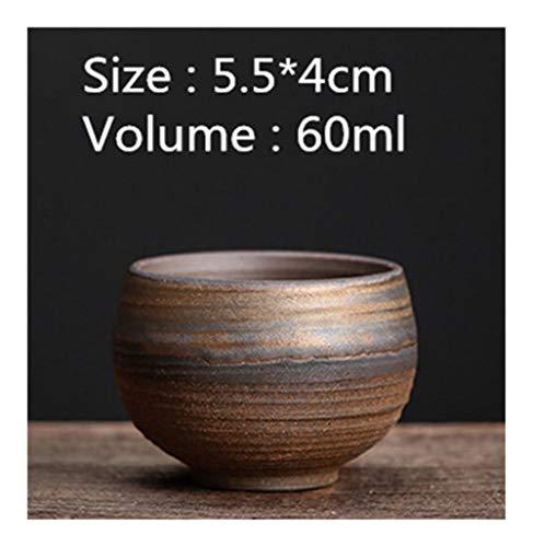 Diseño conveniente Hierro esmalte taza de agua hecho a mano grueso de la cerámica de la vendimia taza de té de cerámica taza de té taza de té Vasos Accesorios Copa Individual El limpio ( Color : C )