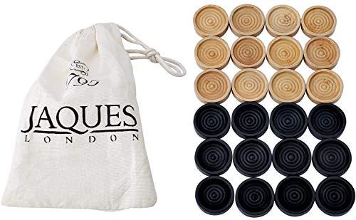 Jaques of London - Superior Drafts - Set in Einer Kordelzug - Qualität Stapelbare Steine zum Spielen mit den Drafts Set