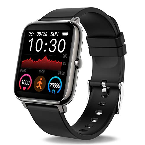 Smartwatch, Reloj Inteligente con Pulsómetro, Cronómetros, Calorías, Monitor de Sueño, Podómetro Pulsera Actividad Inteligente Impermeable IP67 Smartwatch Hombre Reloj Deportivo para Android iOS