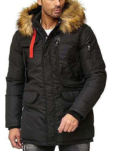 Redbridge Herren Parka Jacke Mantel Winterjacke Big Pocket Schwarz XL