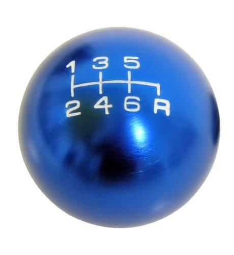 VMS Racing 10x1.25mm Thread 6 Speed JDM Round Ball Shift Knob in Blue Billet Aluminum for Mazda Miata RX8 RX-8