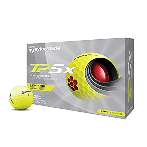 TaylorMade 2021 Yellow TP5x Golf Balls