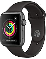 Apple Watch Series 3-42mm, Space Gray Aluminum Case with Black sport Band MTF32