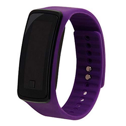 NaiCasy - Orologio digitale per bambini, touch screen, con LED, colore: Viola