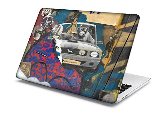 MacBook Pro 15 Case Model:A1707/A1990,QiuHuiCase Plastic Shell Cover Only Compatible 2018-2016 Release MacBook Pro 15' with Touch Bar Touch ID (Painting 142)