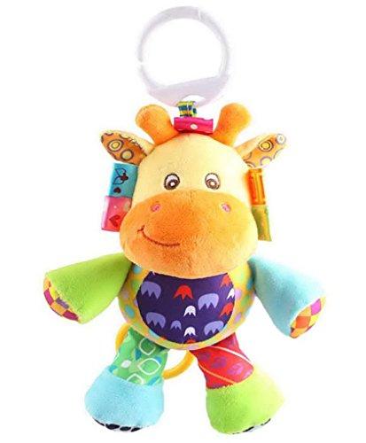 Happy Cherry-Jouet Pour Bébé Hochet Poussette Peluche D'éveil Doudou Premier âge avec anneau en forme d'animaux-Girafe