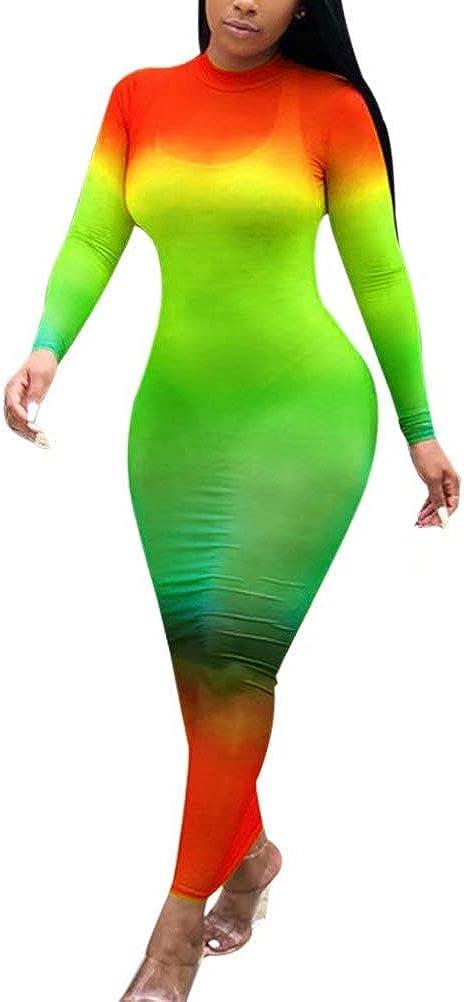 RAMOUG Women Rainbow Fishnet Mesh See Through Bikini Cover Ups Beach Club Dress