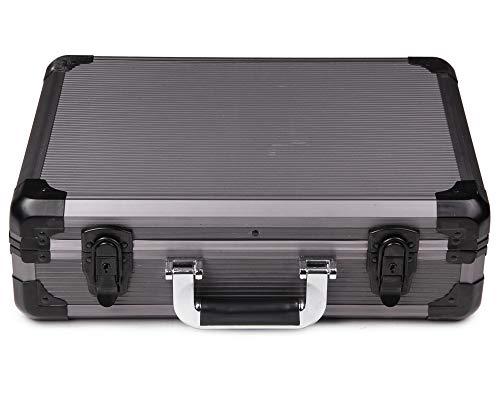 Ondis24 Transportkoffer in Alukoffer Optik Tragekoffer Aktenkoffer abschließbar