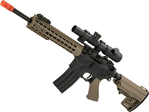 "Evike CYMA Polymer M4 Airsoft AEG with 10"" Keymod Modular Handguard (Color: Tan)"