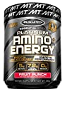Pre Workout + BCAA Amino Acids | MuscleTech Amino + Energy | Preworkout Powder + BCAAs | Amino Acids Supplement | Fruit Punch (30 Servings)