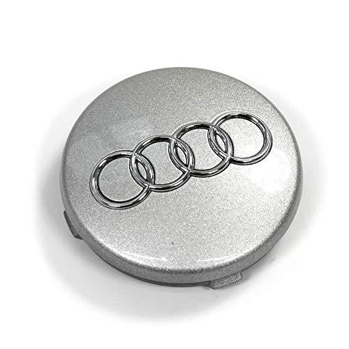 Audi 4B0601170Z17 Radzierkappe (1 Stück) Radnabenabdeckung Felgendeckel Nabenkappe, avussilber
