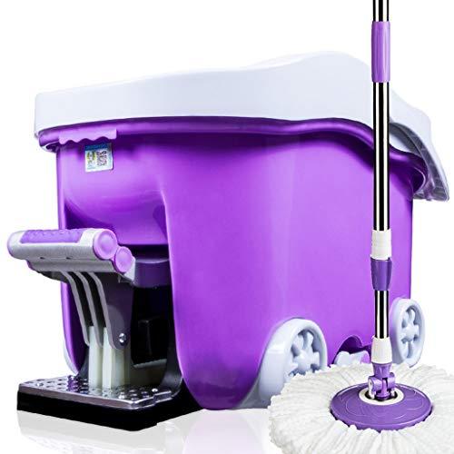 XiaoAAA roterende mopemmer met vier aandrijvingen, handvrij wassen van de huishoudmop, Goede God, trekken van de voet, trappen op de emmer