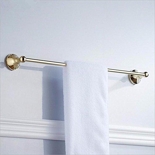 MBYW modern minimalistisk hög bärande handdukshängare badrum handdukstång europeisk stil koppar retro zirkonium guld handdukshylla enkel stång professionellt pris badrum hårdvara hänge