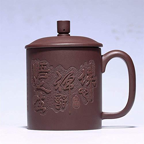 XUSHEN-HU Café Copa Wang 2018 Nueva púrpura de Yixing de Mineral Ranura Inferior Verde Taza de té Hecho a Mano Regalo Wuchan Metal
