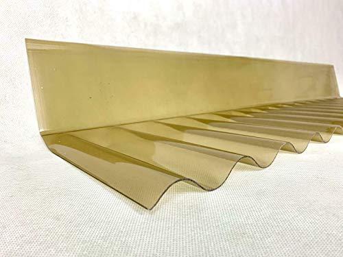 *** PVC Sinus Wellplatte 76/18 Wandanschluss in Bronze inkl. Befestigungsmaterial *** +++Made in Germany +++