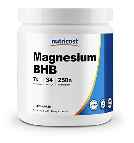 Nutricost Magnesium BHB Salts, Exogenous Ketone Supplement, 6.5g Beta-Hydroxybutyrate Per Serving, 250 Grams