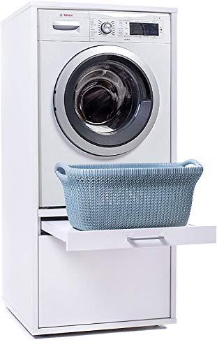 Torre de Lavado Básico con bandeja extensible para elevar la lavadora / secadora