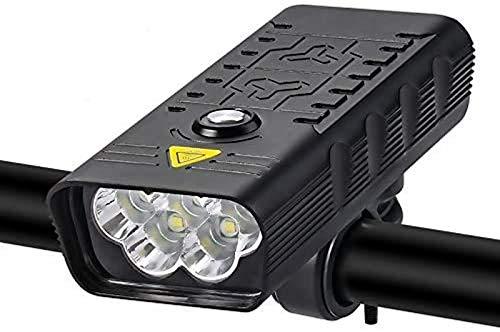 aipipl Juego de Luces Recargables USB para Bicicleta, IPX5 a Prueba de Agua, Luces Delanteras y LED traseras traseras, Faro Delantero súper Brillante en Tiempo de ejecución, 6 Modos de luz para Tod