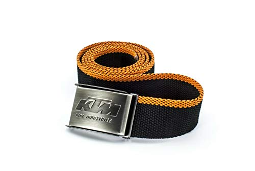KTM Factory Team Gürtel Webgürtel - schwarz/orange - Länge 125 cm