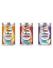 Twinings Infuse 3-delig pakket - passievrucht, watermeloen, bosbessen - theezakjes voor koud gieten (3 soorten, elk 12 x 2,5 g)