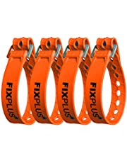 Fixplus -Strap 4-pak – pas mocujący do zabezpieczania, mocowania, wiązania i mocowania, ze specjalnego tworzywa sztucznego z aluminiową klamrą, 35 cm x 2,4 cm