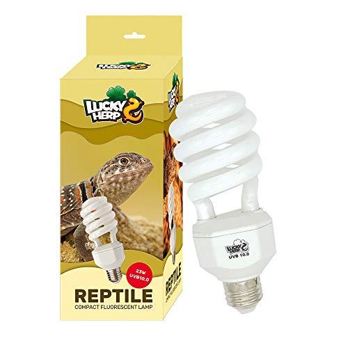LUCKY HERP UVA UVB Reptile Light 10.0, Desert UVB 150 Compact Fluorescent Lamp 23W