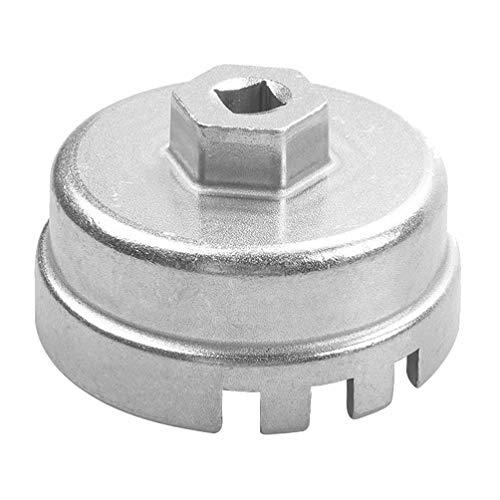 iplusmile Professionele Oliefilter Dopsleutel Lichtgewicht Aluminium Oliefiltersleutel Auto-Accessoires Auto Auto Voertuig Zilver