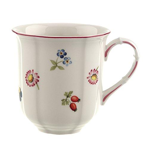 Villeroy & Boch - Petit Fleur Kaffeebecher, Kaffeetasse aus Premium Porzellan mit filigranen Reliefs und blumig-fruchtigen Motiven, 300 ml