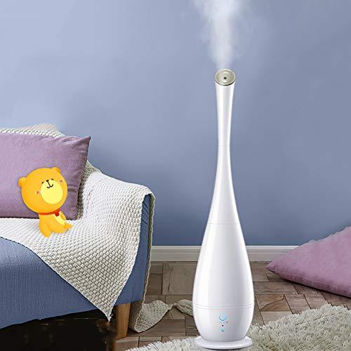 AMYDREAMSTORE Aromaterapia Humidificador Aceite Esencial Difusor De,difusor De Aroma Humidificadores para El Dormitorio Sala De Estar Oficina Bebé,Mute 6l Purificadores De Aire-Blanco