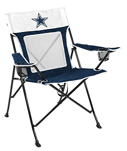 Rawlings NFL Game Changer Large Folding Tailgating and Camping Chair, with Carrying Case, Dallas Cowboys Blue, Adult